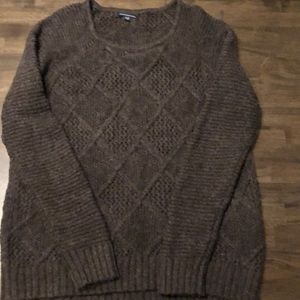 Women's brown woven sweater
